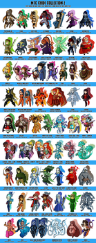 Commission: MTC Chibi Collection 2 - COMPLETE by DrCrafty