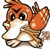 Pokemon Red - Classic Farfetch'd Redrawn