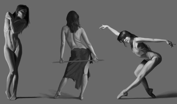 Figure Drawing Study 1 by Gattux