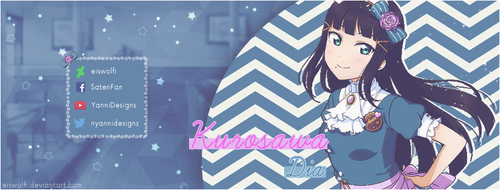 Kurosawa Dia Facebook Cover  by Eiswolfi