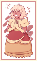 padparadscha sapphire by annalrk