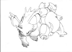 sketch snorlax vs nidoking