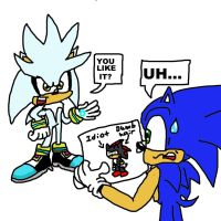 Silver's drawing for sonic by ShyDude28