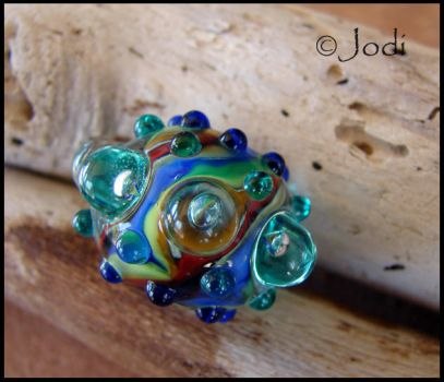 Prism - Sea Urchin Glass Bead by andromeda