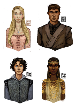 Throne of glass portraits by may12324