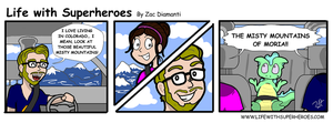 Life with Superheroes #7 by ZacAvalanche