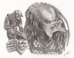 Predator Portrait by FREAKCASTLE