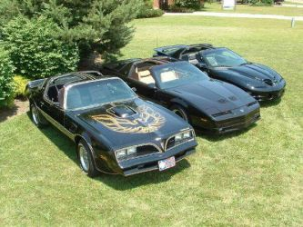 3 generations of Pontiac Trans Am by Hellsmith5