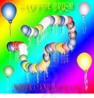 GIMP MULTICOLOR BALLOONS BRUSH by a2j3