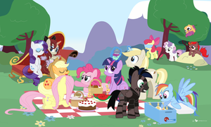 Mane Six Picnic Party feat. BrohoofsUnited (!R) by dm29