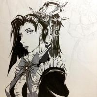 Moleskine Sketch: The Maid by TheDawnIsNear