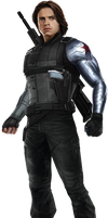 Captain America: Civil War - Winter Soldier 01 PNG by ImAngelPeabody