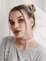 Portrait in pink tones by LinkyQ