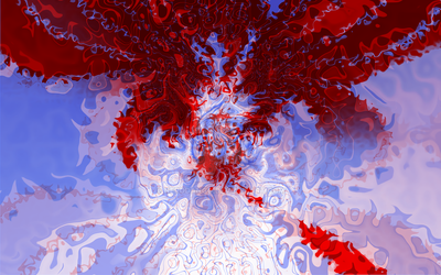 Canda Blue And Red Digital Painting