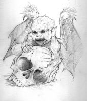 Lovecraft: Baby Demon by GraphicGeek