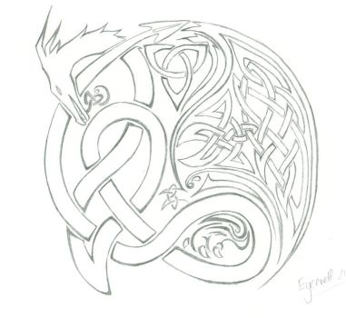 Celtic Dragon Tattoo by Eycewolf