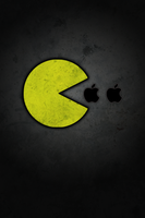 Pac-Man likes Apple - 320x480 by reactdesign