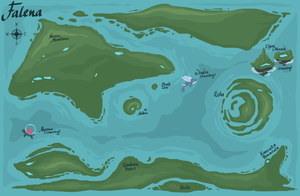 [Mothcats] Map of Falena by floramisa