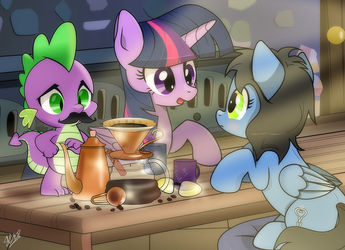 [Commission] Coffee Talk by dSana