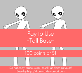 Pay To Use Base {Tall} 100 points or $1.00 by Koru-ru