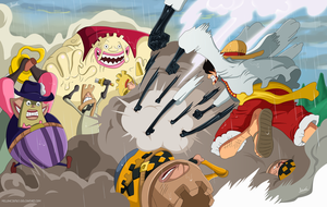 One Piece 845 - Luffy vs la Armada de Big Mom by Melonciutus