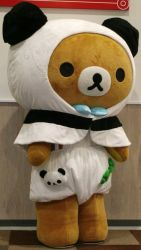 Rilakkuma meets Panda de goron 2 by yellowmocha