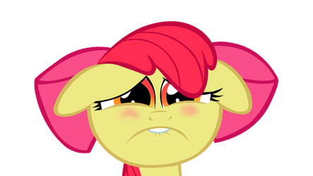 Miserable Applebloom by ShayminOnEarth