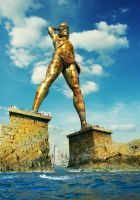 The Colossus of Rhodes by Zamenabatareek