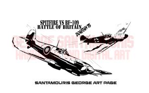 Spitfire Vs Bf-109 Battle Of Britain Dogfights by SANTAMOURIS1978