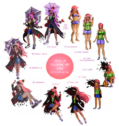 Dress up Telephone Art Game by Cannibanouk