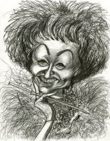 Phyllis Diller by Caricature80