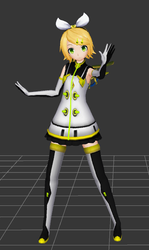 PDX x Project Mirai Kokoro Rin WIP by FlyingSpirits-P