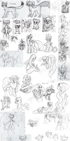 College Sketch Dump Part 1 by TickleMeFrosty