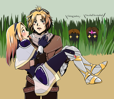 Ezreal and Lux by Refel-Salala
