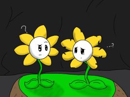 Undertale flowey meets underfell flowey by Tweetheartkelly