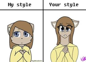 Your Style Vs. My Style  by loxydragonvich109