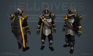 Helldivers - Demolitions Armor by OskarKuijken