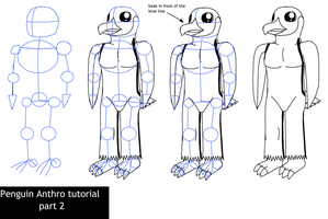 Penguin anthro tutorial part 2 by Enricthepenguin92