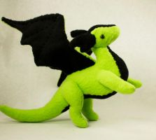 Limey Green Dragon Doll by BeeZee-Art