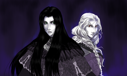 Vetrise and Cachusa by ObsidianTrance