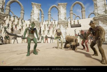 Orc Gladiator UE4 (video link in description) by Mick2006