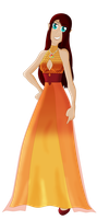 Amber's Dragon Gown by Eliyora