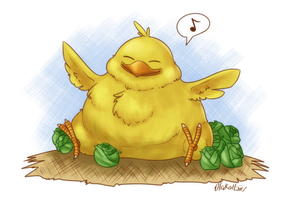 Fat Chocobo by Otakatt
