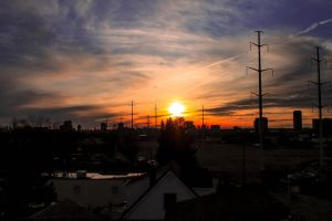 Sunset in Toronto by Luqara