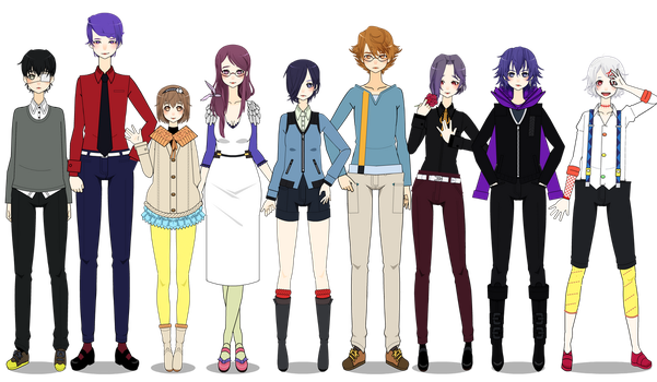 ALL THE TOKYO GHOUL CHARACTERS I'VE DONE SO FAR by ChinkoShabure