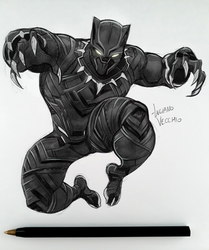 Black Panther sketch by LucianoVecchio