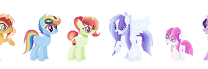 Mlp Twisetdash Family (Smoothverse) by 6SixtyToons6