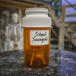 The little different stool sample by NIKOMEDIA