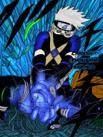 Young Kakashi and chidori by MellissaAF