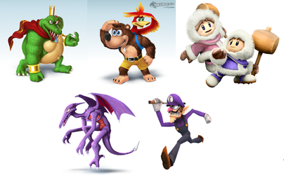 5 DLC Characters I would like to see in SSB4 by russellthedog